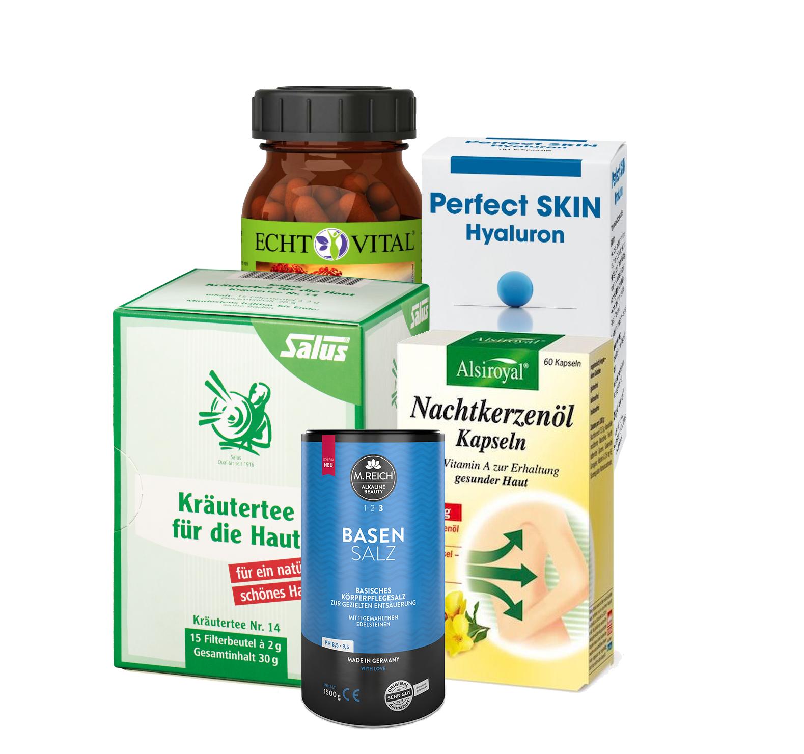 Gesunde Haut, Haare und Nägel mit Hyaluronsäure und Nachtkerzenöl